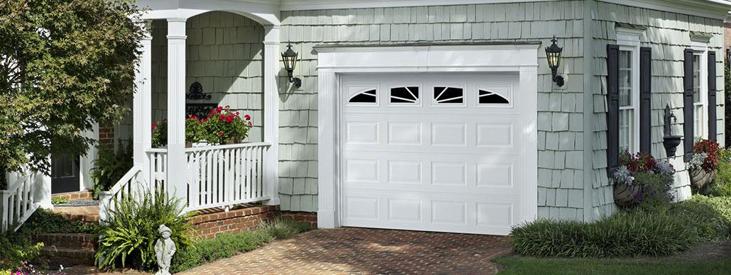 Traditional Steel Garage Door Short Panel Example 3